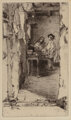 James Abbott McNeill Whistler (1834-1903) Little Rag Gatherers, 1858 Etching on laid paper, final state five 6 x 3-1/...