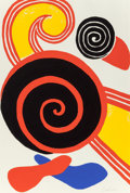 Fine Art - Work on Paper:Print, Alexander Calder (1898-1976). Untitled (Suns and Swirls), c.1970. Lithograph in colors on Rives BFK paper. 35 x 23-5/8 ...