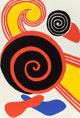 Alexander Calder (1898-1976) Untitled (Suns and Swirls), c. 1970 Lithograph in colors on Rives BFK paper 35 x 23-5/8