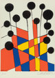 Alexander Calder (1898-1976) Untitled (Balloons) from XXe Siecle No 37, 1971 Lithograph in colors on paper 12-1/2