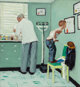 Norman Rockwell (American, 1894-1978) Study for Before the Shot, The Saturday Evening Post cover, 1958 Oil on photogra...