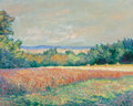 Fine Art - Painting, American, Theodore Earl Butler (American, 1861-1936). Les Déserts,Giverny, 1912. Oil on canvas. 25-3/4 x 32 inches (65.4 x 81.3c...