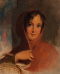 Paintings, Thomas Sully (American, 1783-1872). Gatherer of Chips, 1856. Oil on canvas. 20 x 17 inches (50.8 x 43.2 cm). ... (Total: 2 Items)