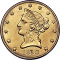 Liberty Eagles, 1850 $10 Small Date MS63 PCGS....