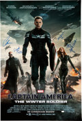 Memorabilia:Movie-Related, Captain America: Winter Soldier Movie Poster signed by ChrisEvans, Hayley Atwell, and Others (Marvel Studios, 2014) O...