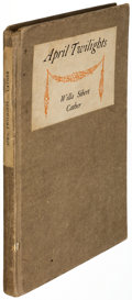Books:Literature 1900-up, Willa Sibert Cather. April Twilights. Boston: Richard G.Badger, 1903. First edition, presentation copy, inscribed...