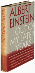 Books:Biography & Memoir, Albert Einstein. Out of My Later Years. New York: Philosophical Library, [1950]. First edition, signed and dated b...