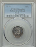 Bust Dimes, 1834 10C Small 4 -- Polished -- PCGS Genuine. XF Details. NGCCensus: (16/239). PCGS Population: (9/185). XF40. Mintage 635...