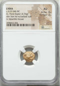 Ancients:Greek, Ancients: LYDIAN KINGDOM. Alyattes or Walwet (ca. 610-561 BC). ELthird stater or trite (4.74 gm). NGC AU 4/5 - 3/5....