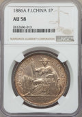 French Indo-China:French Colony, French Indo-China: French Colony Piastre 1886-A AU58 NGC,...