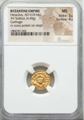 Ancients:Byzantine, Ancients: Heraclius (AD 610-641). AV solidus (4.45 gm). NGC MS 3/5 - 4/5....