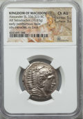 Ancients:Greek, Ancients: MACEDONIAN KINGDOM. Alexander III the Great (336-323 BC).AR tetradrachm (16.93 gm). NGC Choice AU 5/5 - 3/5....
