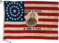 Political:Textile Display (pre-1896), Ulysses S. Grant: A Dramatic Large 1868 Silk Campaign Flag....