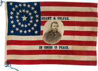 Ulysses S. Grant: A Dramatic Large 1868 Silk Campaign Flag