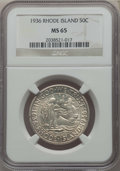 1936 50C Rhode Island MS65 NGC. NGC Census: (1044/381). PCGS Population: (1258/641). CDN: $120 Whsle. Bid for problem-fr...