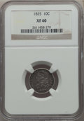Bust Dimes: , 1835 10C XF40 NGC. NGC Census: (19/415). PCGS Population: (76/538).XF40. Mintage 1,410,000. ...