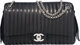 """Chanel Black Lambskin Mademoiselle Maxi Flap Camera Bag with Silver Hardware Condition: 4 13"""" Width x 8"""" Heigh..."""