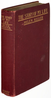 Helen Keller. The Story of My Life. New York: Doubleday, Page & Company, [1903]. First edition