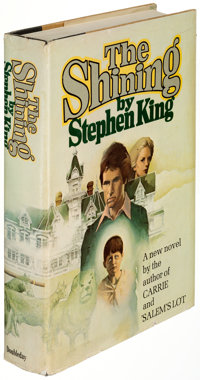 """Stephen King. The Shining. Garden City: Doubleday & Company, 1977. First edition (with """"R49"""" co"""