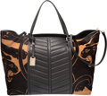 "Luxury Accessories:Bags, Valentino Black and Brown Panther Print Pony Hair and Leather ToteBag. Condition: 3. 14"" Width x 11"" Height x 7"" Depth. ..."