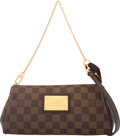 """Luxury Accessories:Bags, Louis Vuitton Brown Damier Canvas Eva Pochette Bag. Condition:3. 10"""" Width x 4.5"""" Height x 1.75"""" Depth. Property of a Lad..."""