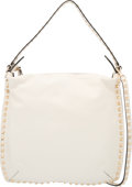 "Luxury Accessories:Bags, Valentino White Rockstud Shoulder Bag. Condition: 2. 12"" Width x13"" Height x 1.5"" Depth. Property of a Lady. ..."