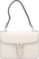 """Gucci Off-White Leather Shoulder Flap Bag Condition: 3 10"""" Width x 7.5"""" Height x 1.5"""" Depth Property of a..."""