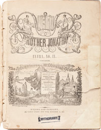 The Adventures of Mr. Obadiah Oldbuck Brother Jonathan Extra No. IX - Bookstand Edition (Wilson and Company, 1842) Condi...