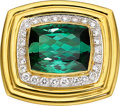 Estate Jewelry:Brooches - Pins, Tourmaline, Diamond, Gold Pendant-Brooch. ...