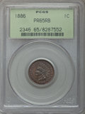 Proof Indian Cents, 1886 1C Type One PR65 Red and Brown PCGS. PCGS Population: (80/44). NGC Census: (52/28). PR65. Mintage 4,290. ...
