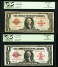 Large Size:Legal Tender Notes, Fr. 40 $1 1923 Legal Tenders Two Examples PCGS Apparent Fine 15..... (Total: 2 notes)