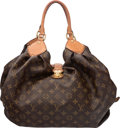 "Luxury Accessories:Bags, Louis Vuitton Classic Monogram Canvas Mahina XL Crocodile Trim ToteBag. Condition: 3. 17"" Width x ..."