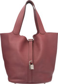 Luxury Accessories:Bags, Hermes Bois de Rose Togo Leather Picotin MM Bag with Palla...