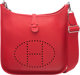"Hermes Rouge Casaque Clemence Leather Evelyne PM Bag with Palladium Hardware X, 2016 Condition: 1 11"" Width x 1"