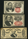 Fractional Currency:Fifth Issue, Fr. 1266 10¢ Fifth Issue Extremely Fine;. Fr. 1309 25¢ Fifth IssueVery Fine;. Fr. 1324 50¢ Third Issue About New.. ... (Total: 3notes)