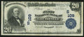 National Bank Notes:Kentucky, Louisville, KY - $20 1902 Plain Back Fr. 650 The First NB Ch. #(S)109. ...