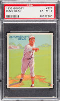 Baseball Cards:Singles (1930-1939), 1933 Goudey Dizzy Dean #223 PSA EX-MT 6. This auct...