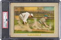 "Baseball Cards:Singles (Pre-1930), 1910-11 T3 Turkey Red ""Out At Third"" #43 PSA VG-EX 4...."
