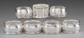 Silver Smalls:Other , Seven Tiffany & Co. Silver Napkin Rings, New York City, early20th century. Marks: TIFFANY & CO, MAKERS, STERLING,(vari... (Total: 7 Items)