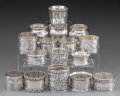 Silver Smalls:Other , Sixteen American and English Silver and Coin Silver Napkin...