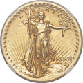 High Relief Double Eagles, 1907 $20 High Relief, Wire Rim -- Mount Removed -- NGC Details. AU....