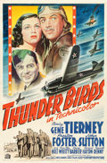 "Movie Posters:War, Thunder Birds (20th Century Fox, 1942). One Sheet (27"" X 39.5"")....."
