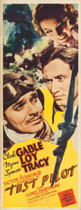 """Movie Posters:Action, Test Pilot (MGM, 1938). Insert (14"""" X 36"""").. ..."""