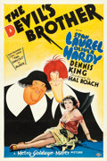 "Movie Posters:Comedy, The Devil's Brother (MGM, 1933). One Sheet (27"" X 41"") Style D, AlHirschfeld Artwork.. ..."
