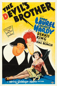 """The Devil's Brother (MGM, 1933). One Sheet (27"""" X 41"""") Style D, Al Hirschfeld Artwork"""