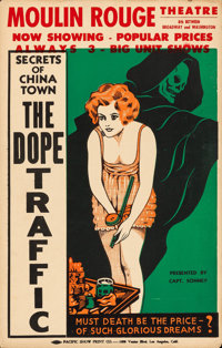 "The Dope Traffic (Sonney, 1933). Window Card (14"" X 22"") Alternative Title: Narcotic"