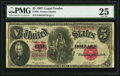 Large Size:Legal Tender Notes, Fr. 88 $5 1907 Legal Tender PMG Very Fine 25....