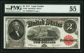 Large Size:Legal Tender Notes, Fr. 60 $2 1917 Legal Tender PMG About Uncirculated 55.. ...