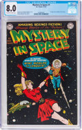 Golden Age (1938-1955):Science Fiction, Mystery in Space #1 (DC, 1951) CGC VF 8.0 Off-white to whitepages....