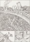 Original Comic Art:Panel Pages, Geof Darrow Hard Boiled #3 Story Page 55 Original Art (DarkHorse, 1991)....